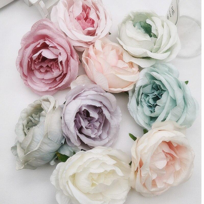 5 шт. 7,5 см искусственные цветы пиона для украшения свадьбы, декоративные вечерние венки для отеля и дома, искусственные цветы