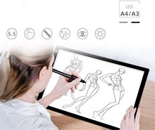 Ultra Thin A4 LED Light Pad Artist Light Box Table Tracing Drawing Board Pad Diamond Painting Embroidery Tools 1pcs a4 ultra thin portable usb power led light pad with line tracing copy board light box stencil for drawing painting