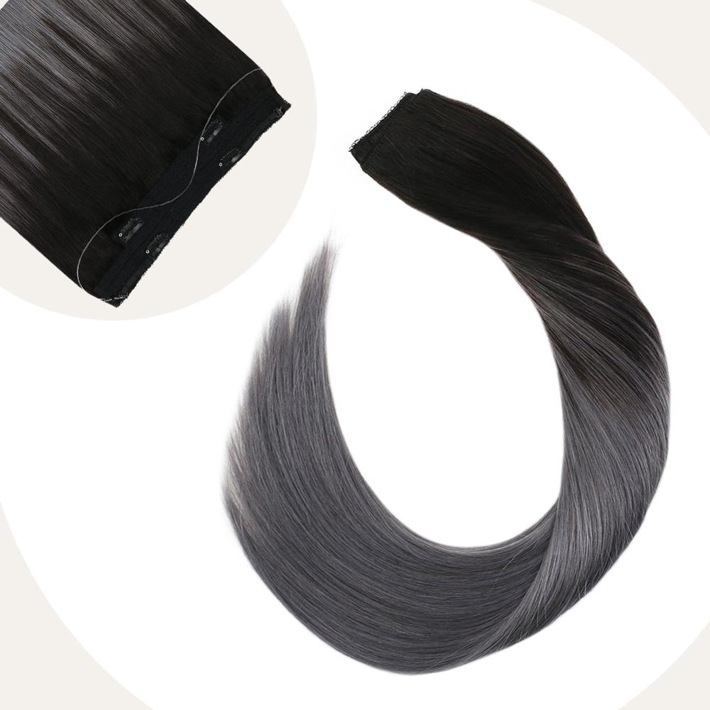 Ugeat Halo Hair Extensions With 4 Clips 12-22