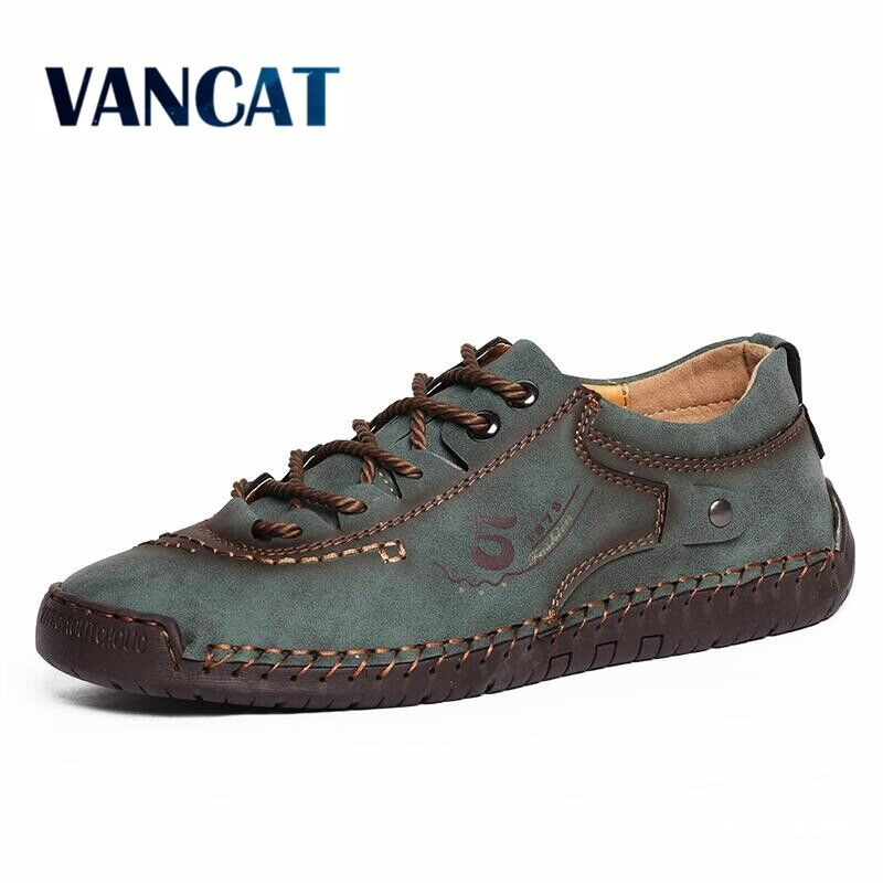 New Autumn Soft Men Casual Shoes Leather Handmade Men Loafers Rome Designer style Flat Moccasins Outdoors Men Sneakers 38 48| |   - AliExpress