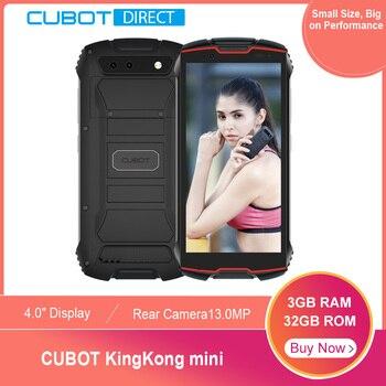 "Cubot KingKong MINI teléfono resistente 4 ""QHD + pantalla a prueba de agua 4G LTE Dual-SIM 3GB + 32GB Android 9,0 cámara trasera 13MP Real MINI teléfono"