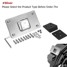 Holder License-Plate Chrome for Big Twins Softail Dyna Sportster XL 3-Holes Mounting-Bracket-Kit
