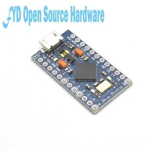 Image 5 - 1 adet Pro mikro ATmega32U4 5V 16MHz değiştirin ATmega328 Arduino Pro Mini için 2 satır Pin başlığı ile leonardo için Mini Usb arayüzü