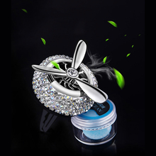 Crystal car air freshener air conditioner vent perfume clip lasting auto fragrance ocean flavor scented girl car accessories cute panda shaped car home perfume air freshener peach flavor