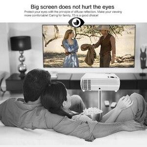 Image 4 - Potężne wsparcie 720P projektor X5 odtwarzacz multimedialny 3D kino domowe zagraj w grę USB podłącz telefon Laptop TF karta wideo Beamer Proyector