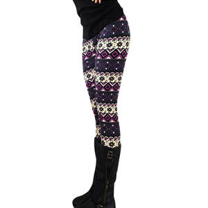 Christmas-Leggings Legins Printed Trouser Elasticity Skinny Stretchy Casual Women Lady
