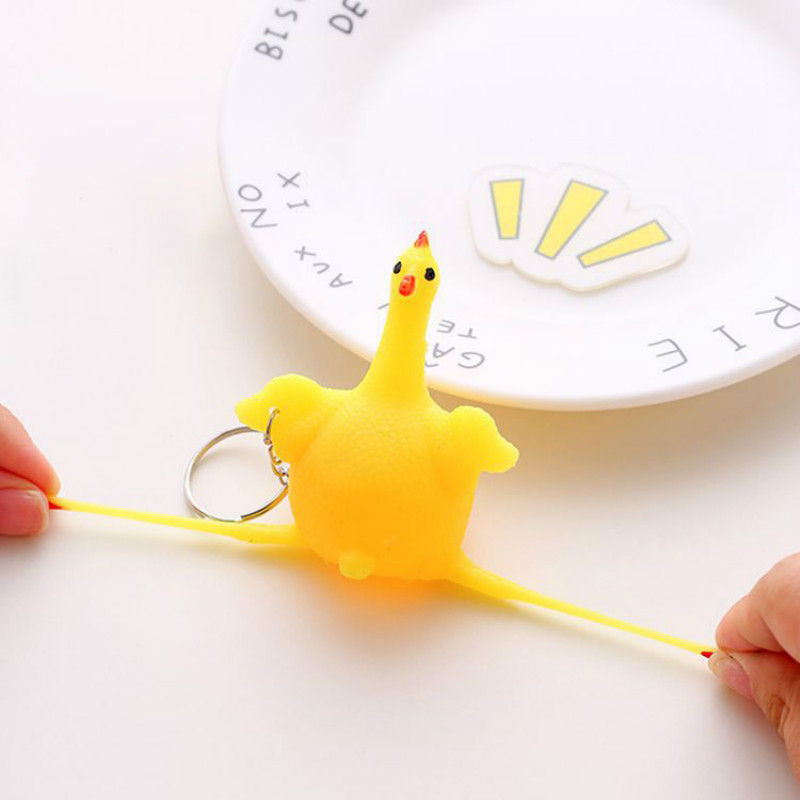Fidget-Toys Chicken-Keychain Decompression Squeeze Fun Adult Children's Creative Egg img2
