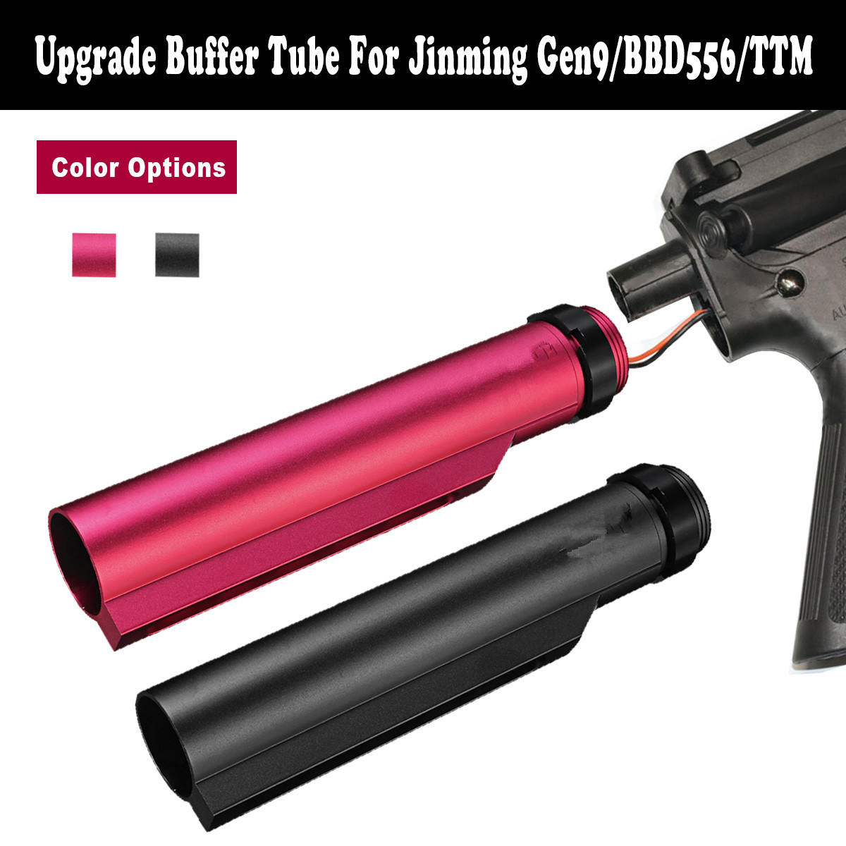 Upgrade Metal Buffer Tube For Jinming Gen9/BBD556/TTM Water Gel Ball Blasters Toy Guns Replacement Accessories
