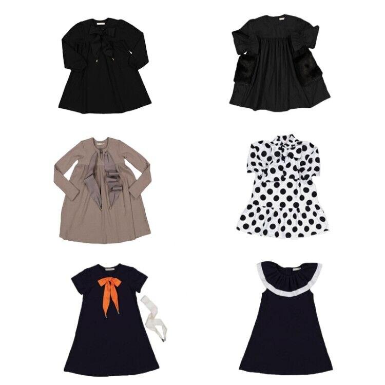 Toddler Girl Dresses Carbon Soldier New Autumn Winter Wholesale Lots Bulk Clothes Princess Boutique Kids Clothing Baby Dress 1