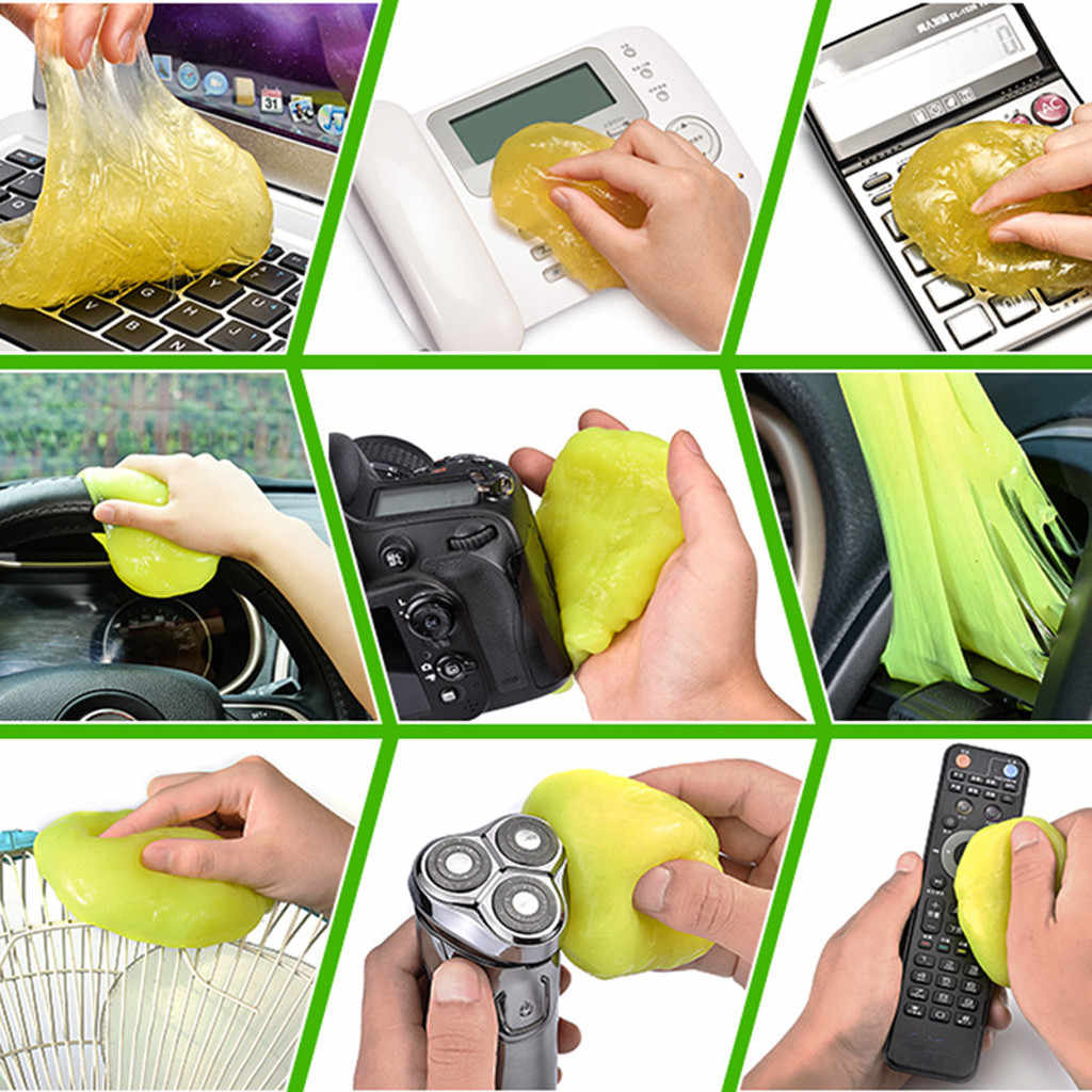 Magic Lembut Legit Bersih Lem Karet Silica Gel Keyboard Debu Kotoran Cleaner Cute Keyboard Printer Mengambil Debu Kotoran membersihkan Permen Karet