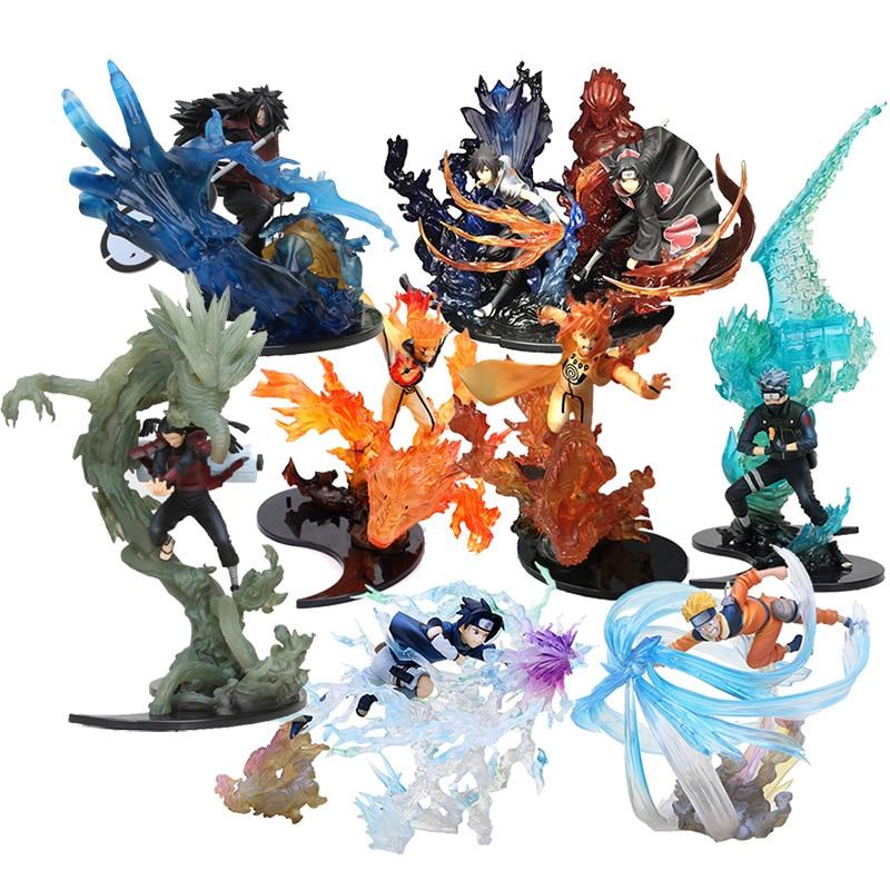 Anime naruto figura de ação relação uchiha itachi madara fogo sasuke susanoo kakashi uchiha hashirama coleção modelo brinquedo