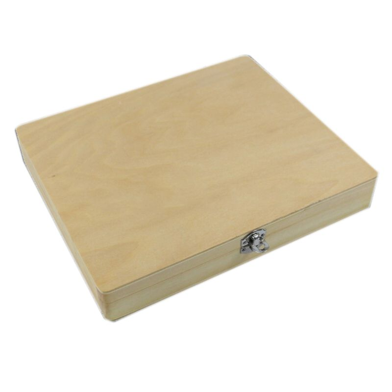 100-Places Digital Microscope Slides Storage Box Biological Wooden Piece Case With Numbered Slots Contents Sheet