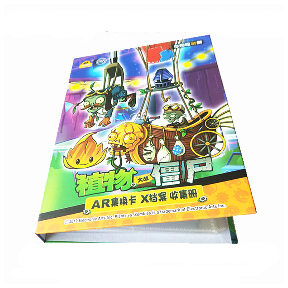 Cartoon Anime Plants Vs. Zombies 160 Pcs Holder Album Toy Collection Cards Album Book Top For Kids Gift