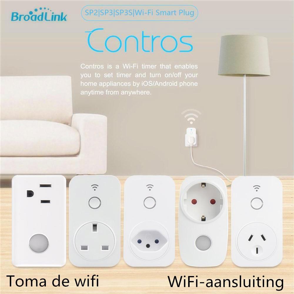 Broadlink SP2 SP3 SP3S Brazil WiFi Smart Socket Orijginal Outlet APP Remote Control For Alexa Google Home AU UK BR US EU Plug