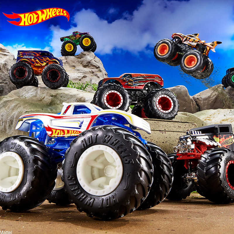1 64 Hot Wheels Monster Tracks Diecast Car Toys Collection Model Trucks Assortment Metal 2020 Boys Toys For Children Kids Gifts Diecasts Toy Vehicles Aliexpress
