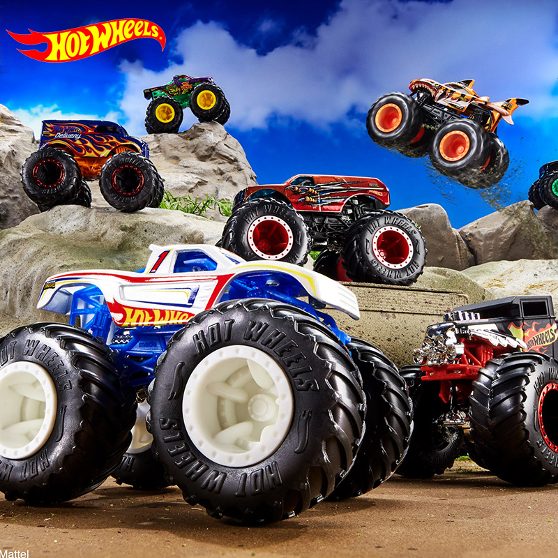 1:64 Hot Wheels Monster Tracks Diecast Car Toys Collection Model Trucks Assortment Metal 2020 Boys Toys For Children Kids Gifts