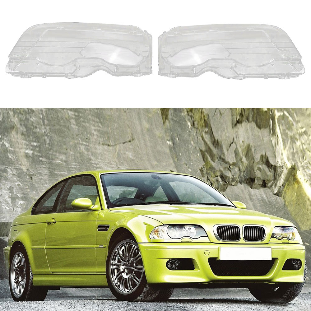 For BMW E46 2Door M3 1998-2001 Car Headlight Clear Lens Headlamp Clear Cover Coupe Convertible Auto Accessories
