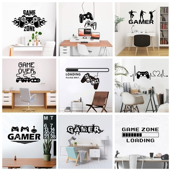 2020 New Gamer Wall Sticker For Game Room Decor Kids Room Decoration Bedroom Decor Door Vinyl Stickers Mural Gaming Poster classic car wall sticker for boy bedroom decor kids room decoration vinyl roadster vinyl wall decor stickers mural poster