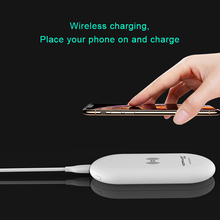 Power Bank 8000Mah Wireless Charger 2 In 1 Portable Charger External Battery Wireless Powerbank 10000mAH For Iphone Samsung caseier 10000mah mini powerbank for iphone xiaomi samsung led bank external battery power bank powerful bank portable charger