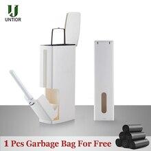 UNTIOR cubo de basura multifunción con cepillo para inodoro, cubo de basura, limpieza de cocina y baño