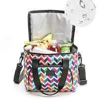 Bolsa de Picnic portátil de doble capa impresa bolsa enfriadora aislada al aire libre bolsa enfriadora de vacaciones para Camping