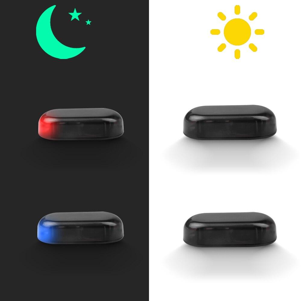 Luz de led solar de aviso para carro 5v, porta de carregamento usb para todos os automóveis, flash, luz de alarme, anti-estroboscópica lâmpada de simulação de brilho