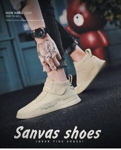 Image 5 - QZHSMY גברים נעליים יומיומיות מגפי סתיו נעל אוורור תלמיד סניקרס Zapatos Hombre רך אור נוח לנשימה 39 44