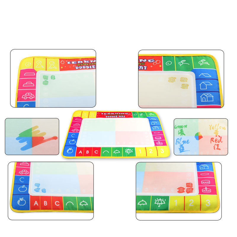 1323 Children'S Educational Early Childhood Four Colors Magic Canvas Baby Painted Water Canvas Gift Colorful Box
