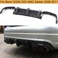 Für W204 C63 AMG Carbon Faser Heckschürze Diffusor Lip Spoiler für Mercedes Benz C-Klasse W204 C63 AMG limousine 4 Tür 2008-2011