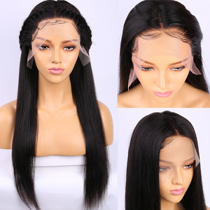 Image 3 - 360 Lace Frontal Wig Pre Plucked With Baby Hair Peruvian Straight Remy 13x4 Lace Front Human Hair Wigs 4x4 Lace Closure Wig