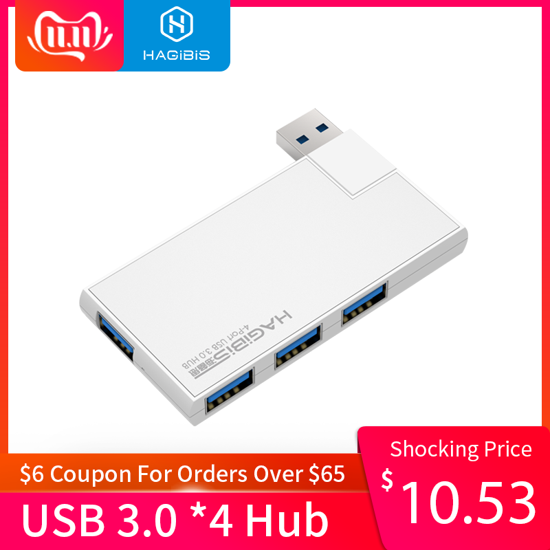 Hagibis 180 Degree Rotation USB 3.0 HUB Super Speed External 4 Port Usb Splitter for Macbook Air Laptop PC Computer Hub