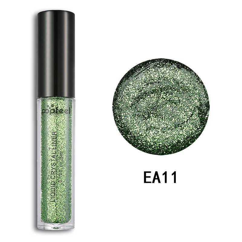 12 Colors Glitter Liquid Eye Shadow Shimmer Sparkles Laser Eyeshadow Powder Women Diamond  Shiny Beauty Makeup Comestics TSLM2