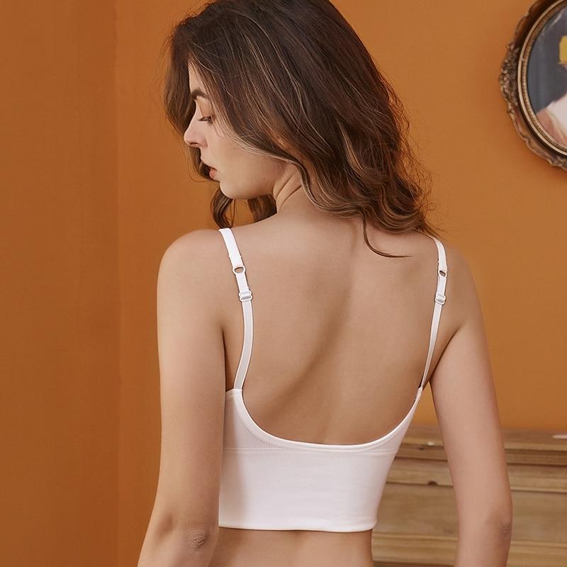 Frauen Tank Crop Top Nahtlose Unterwäsche Weibliche Crop Tops Sexy Dessous Dessous Mit Abnehmbare Gepolsterte Leibchen Femme Mode