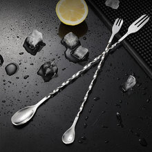 Bartender-Bar-Tool Spoon Mixing-Pin Cocktail-Bar Different-Drinks Double-Head Stainless-Steel
