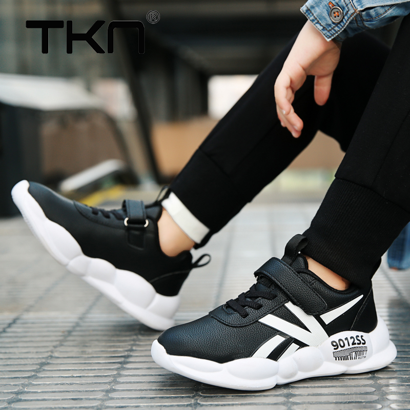 TKN Winter Children Sneakers Shoes PU Leather Boys Fashion Shoes Cushion Casual Shoes Toddler Sneakers Children Shoes 2809