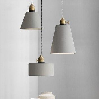 Современный Лофт 8 видов цементные подвесные светильники Led Промышленный бетонный подвесной светильник креативное искусство подвесные лам...
