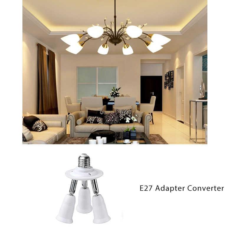 3/4 в 1 Свет-разветвитель на E27 держатель переходника адаптера для Стандартный E27 светодиодный лампы E27 основание светильника огнестойкий держатель