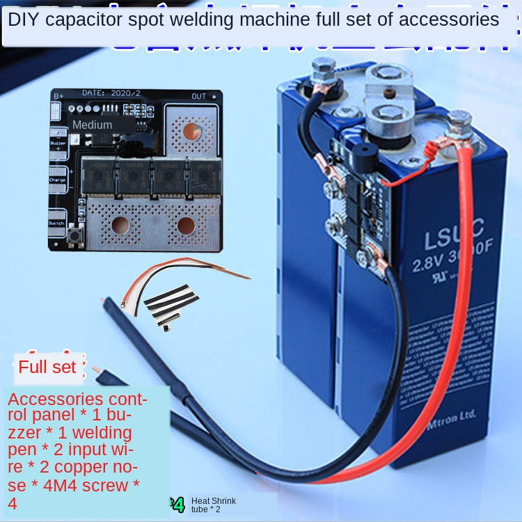 4.2v5v5.6v6v Fala Capacitance Singlechip Spot Welding Machine Bring Spot Welding Pen Control Panel Diy Full Set Of Parts