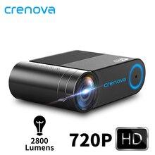 CRENOVA 2019 Mới Nhất HD 720P Video Máy Chiếu Cho 1080P Không Dây WiFi Đa Màn Hình Máy Chiếu Mini 3D VGA AV HDMI Proyector
