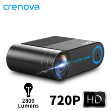 CRENOVA 2019 yeni HD 720P Video projektör için 1080P kablosuz WiFi çoklu ekran Mini projektör 3D VGA AV HDMI projektör