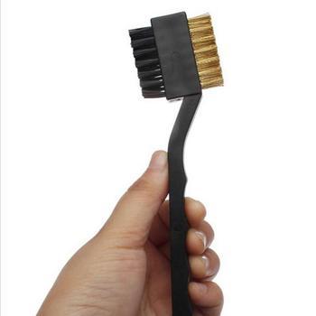 Четкица за палицу за голф Голф четка за чишћење жлеба за обострани двострани комплет за чишћење клинастог утора за чишћење клинова, алат за чишћење алата за голф