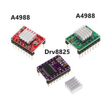 3D Printer Parts StepStick Motor Driver With Heat Sink A4988 DRV8825 Stepper Carrier Reprap RAMPS 1.4 1.5 1.6 MKS GEN V1.4 Board(China)