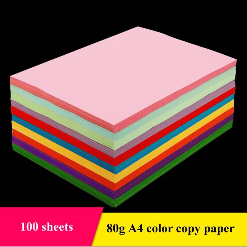 A4 Color Copy Paper With White Double Sided Coloured Handmade Folding DIY Paper Cut Craft Origami Printing Document File