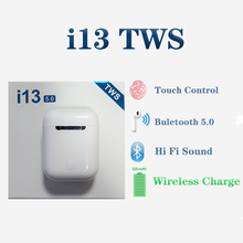 i13 TWS Wireless Bluetooth Earbuds Touch Control Earphone Bluetooth 5.0 Stereo Bass Surround Sound For Smartphone PK i11 i12 i14 i12 tws bluetooth earphone wireless earphones touch control earbuds 3d surround sound charging case for iphone android headset