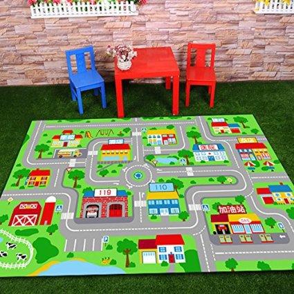 Tapis design piste enfants tapis, tapis enfants dessin animé mignon, tapis moderne Kobep pour salon tapetes para sala de estar