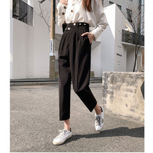 New Winter Autumn Pants High Waist Womens Pencil Casual Solid Harem Female Warm Long Trousers Hot Sale 291