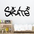 Бесплатная доставка Скейтборд Мультфильм Наклейки на стены ПВХ росписи искусства Diy плакат для гостиной спальни художественные обои
