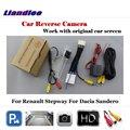 Задний вид автомобиля резервная парковочная камера для Renault Sandero Stepway 2007-2020 2016 Full HD OEM Оригинальный Кабель-адаптер для экрана