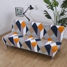 Baskılı kanepe yatak örtüsü evrensel boy kolsuz çekyat kapakları sıkı Wrap kaymaz elastik streç mobilya Slipcovers