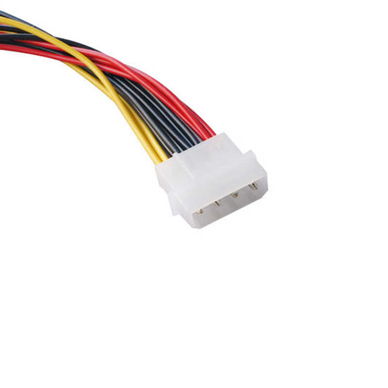 4 Pin IDE Molex 3 Serial ATA SATA Power Extension Cable Connectors